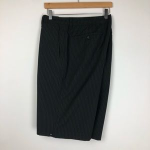 Quiksilver Shorts - Quiksilver Pinstriped Flat Front Shorts Size 40